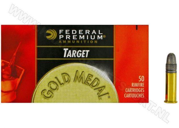 Kogelpatronen Federal Golden Medal Target .22 LR RN 40 Grain