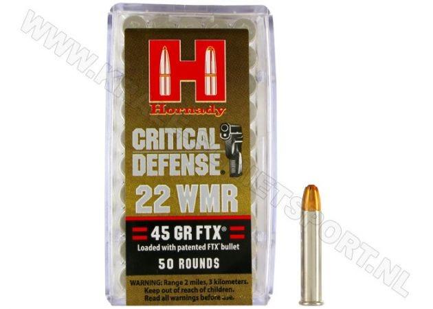 Ammunition Hornady .22 WMR FTX Critical Defense 45 grain