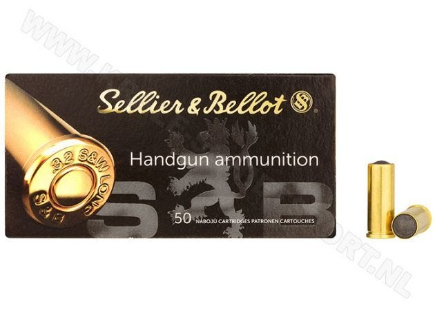 Kogelpatronen Sellier & Bellot Wad Cutter .32 S&W Long LWC 100 grain