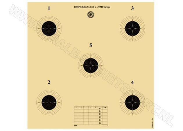 Kruger .30 M1 Carabine target, 25 M 5462