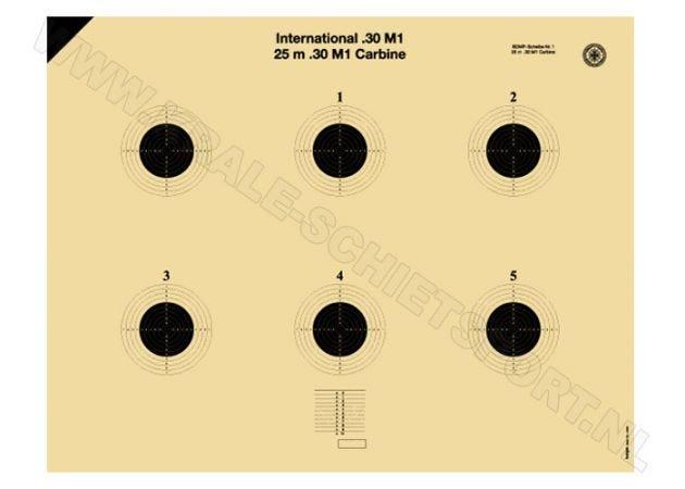 Kruger International .30 M1 Carabine target 25 m 5463