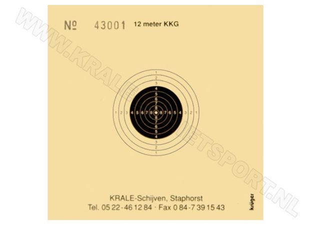 Kruger smallbore rifle shooting target 12 m 0800N (numbered)