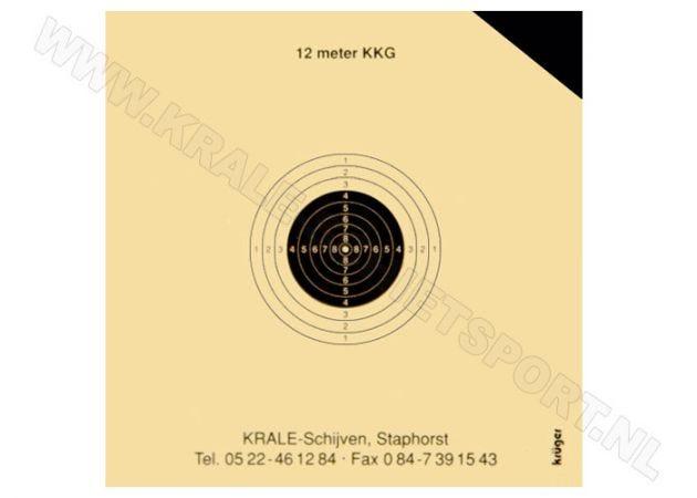 Kruger Klein kaliber geweer schijf 12 m 0800P (proef)