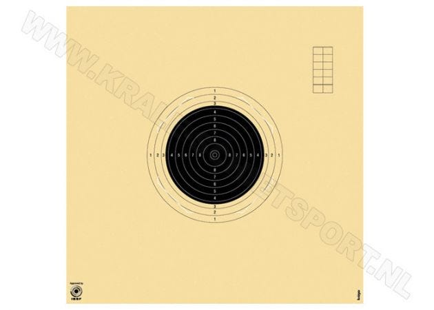 Kruger Smallbore rifle background target 50 m 2000NS (numbered)