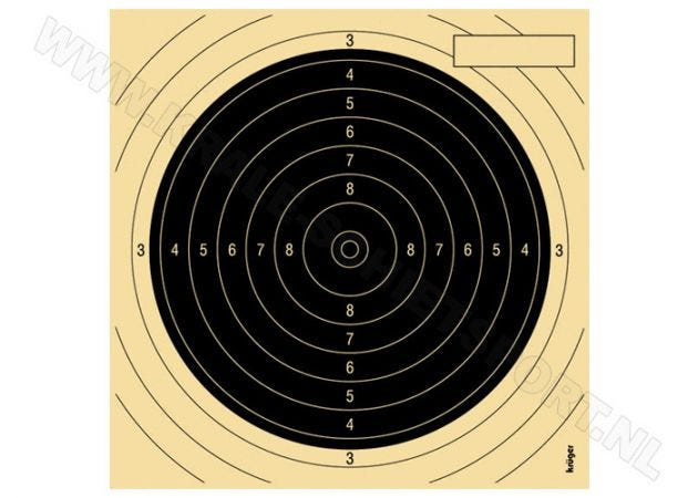 Kruger Smallbore rifle target 50 m 2030 N (genummerd)