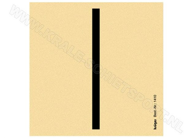 Kruger air rifle skills training target large strip (5.5 x 90.0 mm) 1410