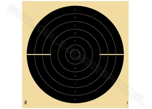 Kruger Olympic rapid fire pistol 25 m target 3200N (numbered)