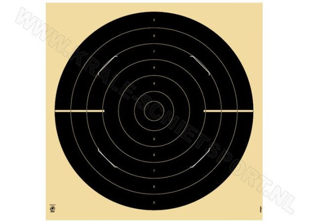 Kruger Olympic rapid fire pistol 25 m 3200S, with slots for targets 21 x 21 and 26 x 26 cm
