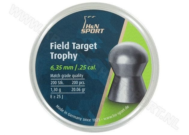 Airgun Pellets H&N Field Target Trophy 6.35 mm 20.06 grain