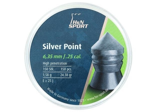 Airgun Pellets H&N Silver Point 6.35 mm 24.38 grain
