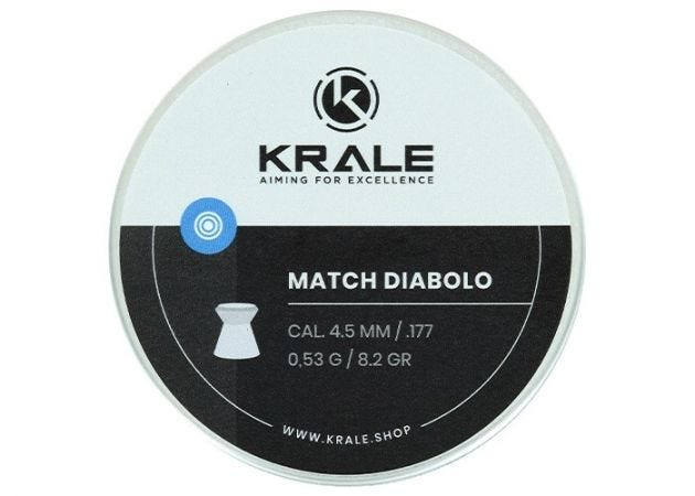 Airgun Pellets Krale Match 4.5 mm 8.2 grain