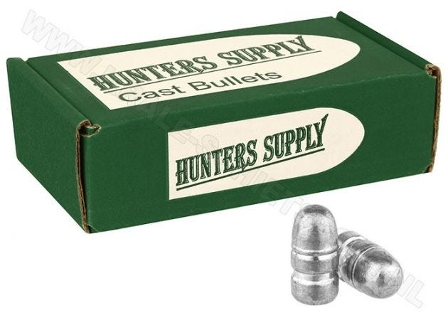 Luchtdrukkogeltjes Hunters Supply 9 mm (.358) RN 160 grain