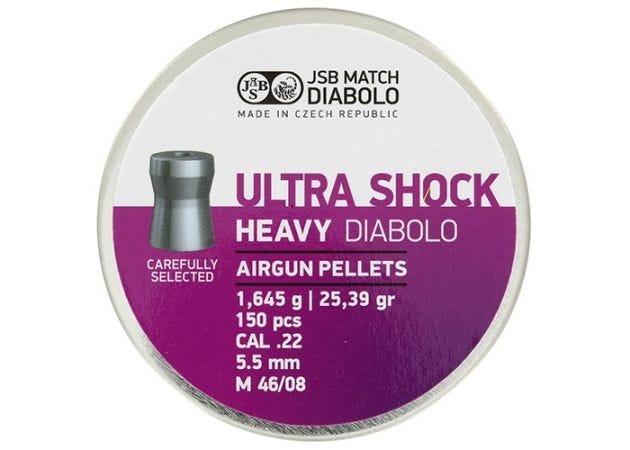 Luchtdrukkogeltjes JSB Ultra Shock Heavy 5.5 mm 25.39 grain