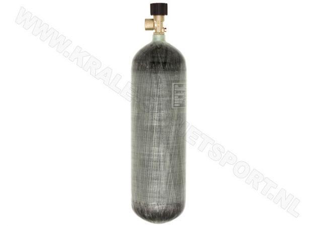Persluchtfles Krale Carbon 6.8 liter 300 bar met standaard kraan