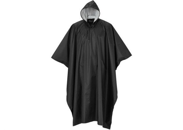 Poncho Pinewood Rainfall Black