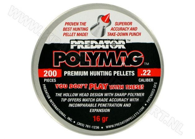 Airgun Pellets Predator Polymag 5.5 mm 16 grain