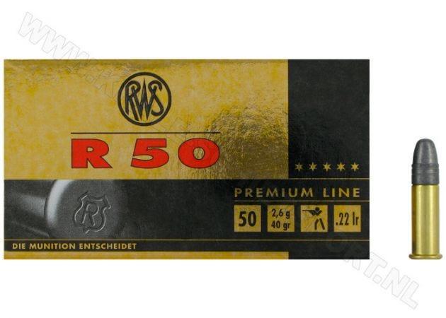 Ammunition RWS R50 .22 LR RN 40 Grain