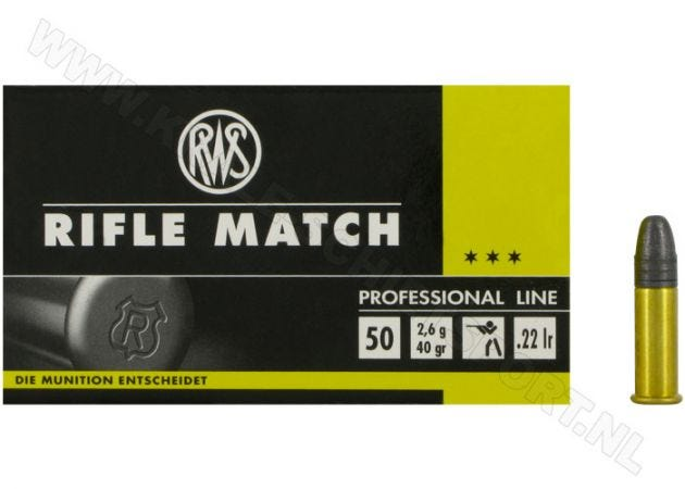 Kogelpatronen RWS Rifle Match .22 LR RN 40
