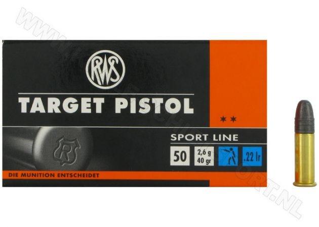 Ammunition RWS Target Pistol .22 LR RN 40 Grain