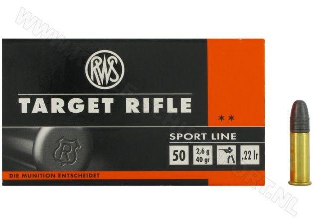 Kogelpatronen RWS Target Rifle .22 LR RN 40 Grain