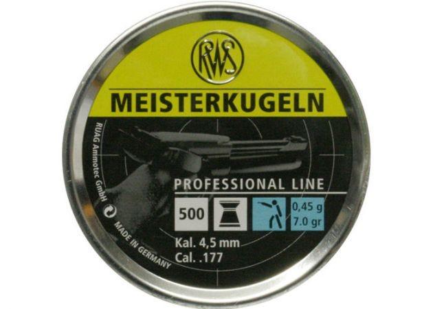Luchtdrukkogeltjes RWS Meisterkugeln blauw 4.5 mm 7 grain