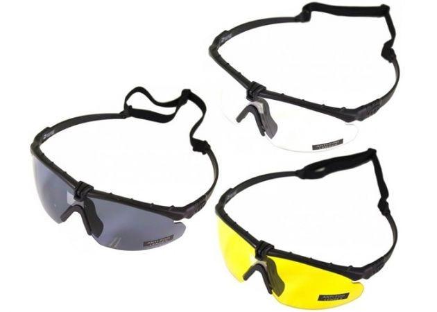 Schietbril Nuprol Battle Pro's met bril inzet Black Frame
