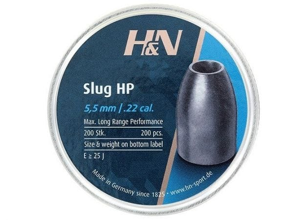 Airgun Slugs H&N 5.5 mm HP 30 grain (.218)