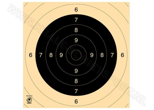 Kruger Centre for Pistol 25/50 m and smallbore rifle 100 m target 3130N (numbered)